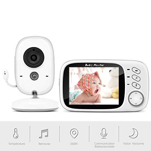 Moniteur Bébé, BOIFUN Babyphone Vidéo Caméra Surveillance Numérique sans Fil avec 3.2'LCD, VOX,...