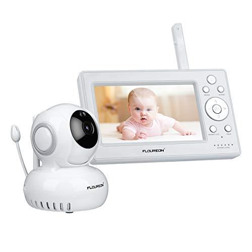 FLOUREON Bébé Moniteur sans Fil 2.4 Pouces Ecoute Bébé 2.4GHz Babyphone avec Caméra Vision...