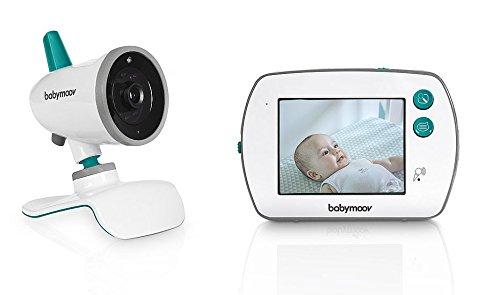 Babymoov - Yoo Feel, Babyphone Vidéo Talkie Walkie, Système Plug & Play, Ecran Tactile