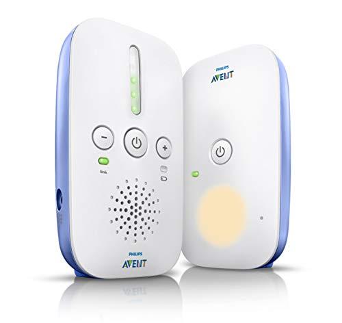 Philips Avent SCD501/00 Babyphone Dect Blanc, Pile et Secteur